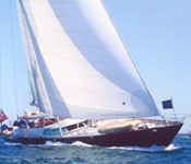 Gitana under full sail.